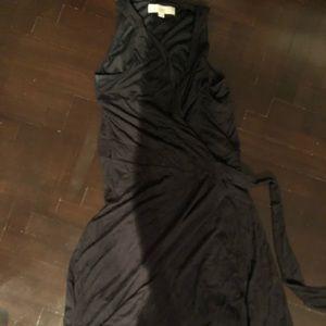 LOFT tank wrap midi dress size 00 XXS